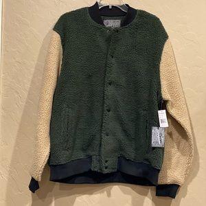 Men's Brooklyn Cloth Co Bomber Jacket Green Tan XL